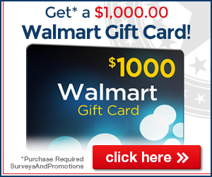 Win a $1000 Walmart Gift Card Today!