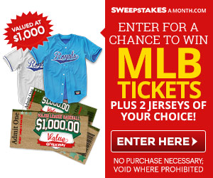 Win tickets to a Major League Baseball game + 2 professional jerseys!